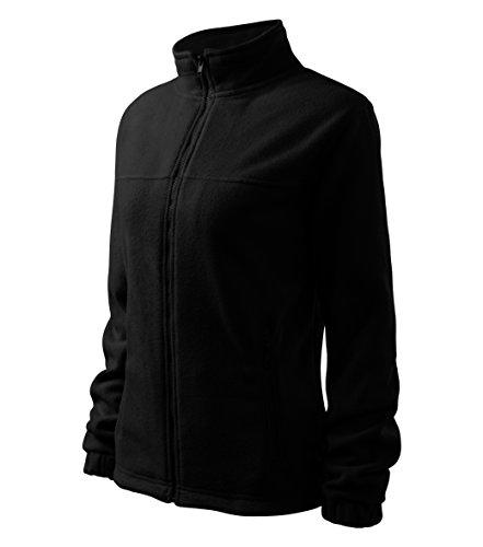 OwnDesigner by Adler Damen Elegante Fleecejacke Outdoor Pullover Fleece (Schwarz, M)