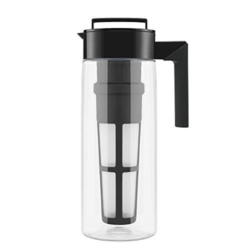 Takeya Iced Tea Maker with Patented Flash Chill Technology Made in USA, 2 Quart, Black