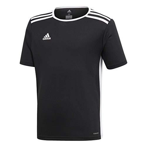 adidas Boys' Entrada 18 Jersey, Black/White, Medium
