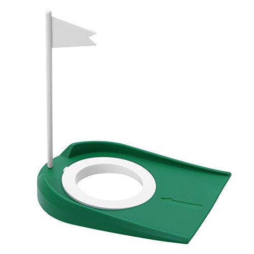 VGEBY Kunststoff Golf Putting Cup Putting Loch Golf Übungshilfe mit alfombra putter golf golf fahne verstellbarem Loch und Flagge Fahne Indoor & Outdoor