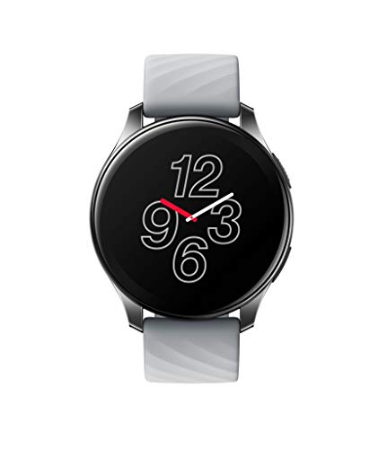 OnePlus Watch - Reloj Inteligente Bluetooth 5.0 con batería de 14 días de duración y 5ATM + Resistencia al Agua IP68 - Moonlight Silver