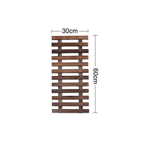 Wandplank Home Decor muur opknoping houten plank houten hek Plant Basin Frame rotan raster Bloem plank muur opknoping Geschikt voor Cafe Office Vintage Wandmontage Rack