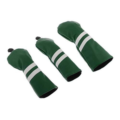 Toygogo Headcover-Set - Golf Schlägerhaube Driverkopfhüllen für Holz Driver bis 460 CCM - Grün