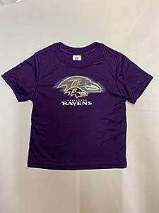 NFL Baltimore Ravens Boys Short Sleeve Solid Logo Tee Shirt, Team Color, 3T