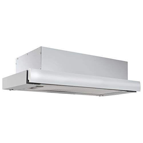 vidaXL Hotte Aspirante Incorporée Hotte de Cuisine Murale Filtre à Graisse Odeurs de Cuisson Maison Intérieur 480 m³/h Aluminium Acier Inoxydable
