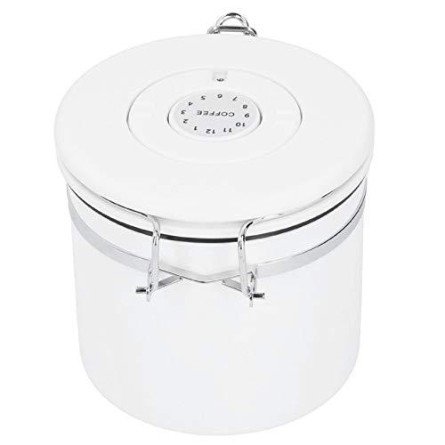Ladieshow Bote Sellado de Acero Inoxidable Recipiente de Almacenamiento de azúcar de harina de café con válvula de liberación(Small)
