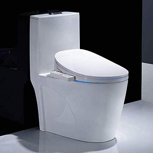 Asiento de inodoro inteligente, bidé eléctrico Temperatura del agua ajustable Funciones de lavado Inodoros Boquilla autolimpiante - Asiento de inodoro con calefacción Limpieza de caderas, lavado tra