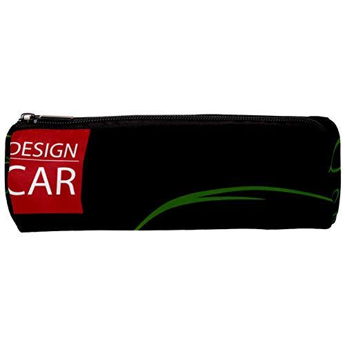 Pen Case Green Line Supercar 3D Bild Druck Federmäppchen Studenten Schreibwaren Box Bleistift Beutel Geldbeutel Mäppchen Kosmetiktasche 20x6.3cm