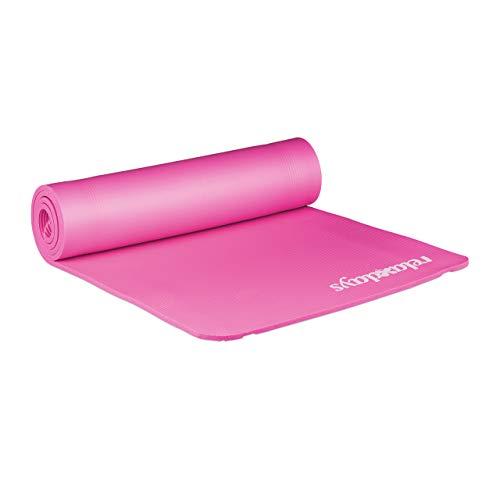 Relaxdays geposltert Yogamatte, rosa, M