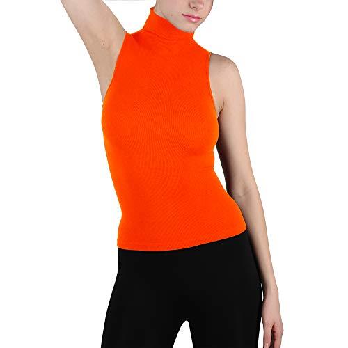 Top sleeveless turtleneck orange for 2021