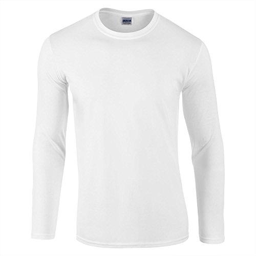 Gildan ソフトスタイル 長袖Tシャツ US サイズ: XX-Large カラー: ホワイト
