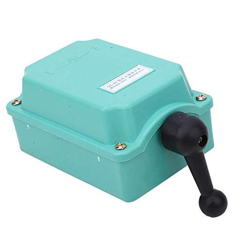 Interruptor, interruptor hacia adelante, retroceso, cableado simple, voltaje de 380 V, modelo QS 60, rendimiento estable con mango de carcasa de plástico para monofásico(QS-60)