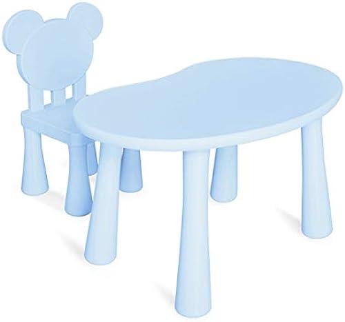Kindergarten Früherziehung Tische und Stühle Puzzle Bausteine  unststoff-Tische und Stühle für Kinder Lernspieltisch für Eltern Interaktive Tische und Stühle für Kinder