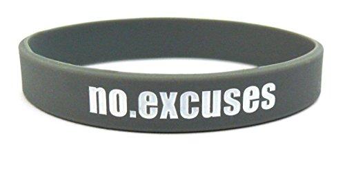 Fitness y Culturismo Pulsera No Excuses Entreno Deporte Fitness Gimnasio Estilo de Vida CrossFit Accesorios Silicona Goma Cinta Elástica Unisexo Nuevo