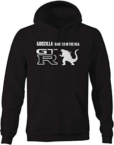 Nissan GTR Skyline Godzilla Banned USA Racing Mens Sweatshirt - XLarge Black
