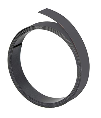 Franken M801-10 - Bandas magnéticas (5 mm x 1 m), Color Negro