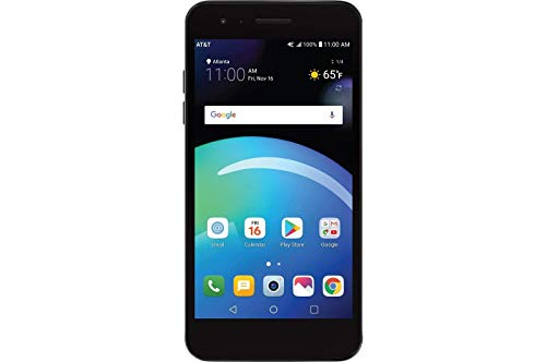 LG Phoenix 4 X210, 5' Full HD Display, (16GB, 2GB RAM), Dual Camera, 2500 mAh Battery, Android 7.1 Nougat, 4G LTE, GSM Unlocked Smartphone, Titan Black (Renewed)