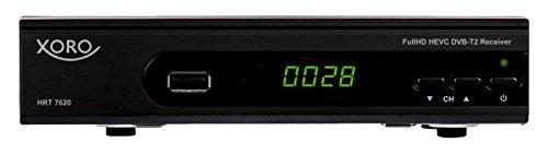 Xoro HRT 7620 FullHDHEVC DVBT/T2Receiver(HDTV, HDMI, SCART, Mediaplayer, PVR Ready, USB 2.0, LAN) schwarz