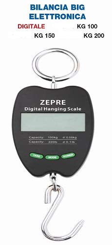 Zepre Bilancia Big Elettronica Digitale 3 Modelli con 3 pesate massime : Fino a kg 100, 150 o 200 (kg.150)