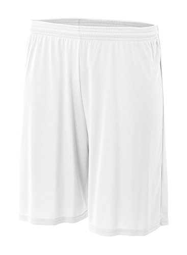 A4 Men's Cooling Performance Short,White,Large