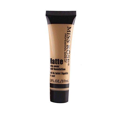 Babysbreath17 MISS ROSE Matte Concealer Feuchtigkeitscreme Creme Lotion Frauen Mädchen Make-up Flüssig Whiten Foundation Creme (BEIGE 4)