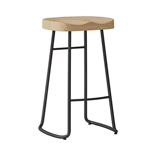 Muebles bar para salon polipiel taburete Taburete de bar de madera maciza, taburetes de bar nórdicos modernos de altura de mostrador Cocina Comedor Silla de comedor Taburete de silla de montar sin res