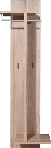 Garderobenpaneel Garderobe Nussbaum Royal Kleiderhaken Wandgarderobe Holz Flur