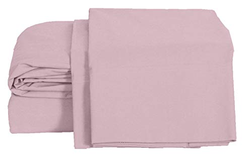 100% Cotton Percale Sheets King Size, Lilac, Deep Pocket, 4 Piece - 1 Flat, 1 Deep Pocket Fitted Sheet and 2 Pillowcases, Crisp and Strong Bed Linen