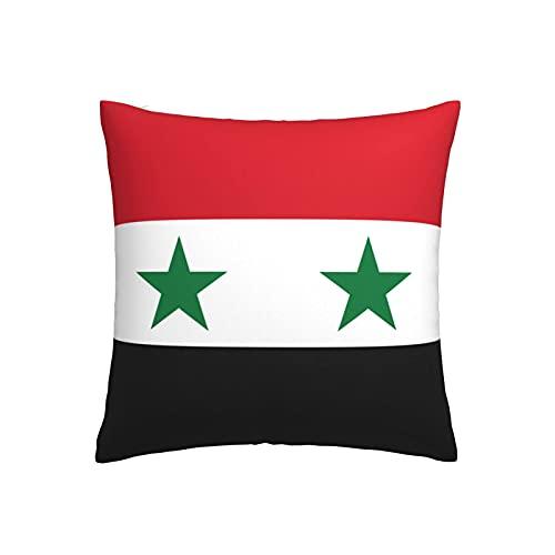 LOOU - Federa quadrata per cuscino con bandiera della Siria, per divano letto, auto, 45 x 45 cm