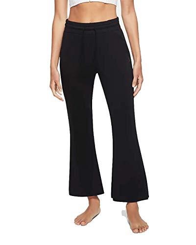 Nike Yoga Core Collection Flare - Pantalones de entrenamiento para mujer, color negro, L