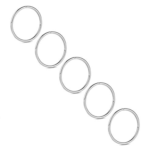 Kzslive 20G G23 Titanium Nose Ring Hoop Tragus Cartilage Helix Piercing Lip Septum Ring 12mm