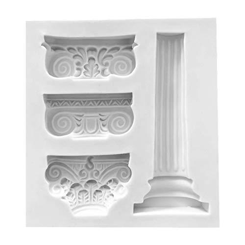 Jingmeizi - Moldes de gel de sílice para tartas de chocolate, diseño de columnas retro romanas europeas