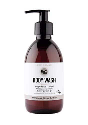 DAYTOX - Body Wash - Pflegendes Duschgel für schöne und straffe Haut - Vegan, ohne Farbstoffe, silikonfrei und parabenfrei - 300 ml