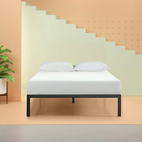 Zinus AZ-ASMP-15F Mia Modern Studio 14 Inch Platform 1500 Metal Bed Frame / Mattress Foundation / No Box Spring Needed/ Wooden Slat Support / Good Design Award Winner / Black, Full