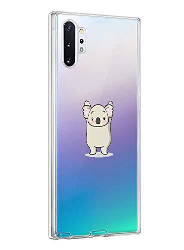Oihxse ersatz für Galaxy Note 10 Plus Hülle,Galaxy Note 10 Plus Hülle Weiche Ultra Dünn Handyhülle Slim Silikon TPU Transparent Gel Case Soft Clear Kratzfeste Stoßfest Premium Schutzhülle (Koala)