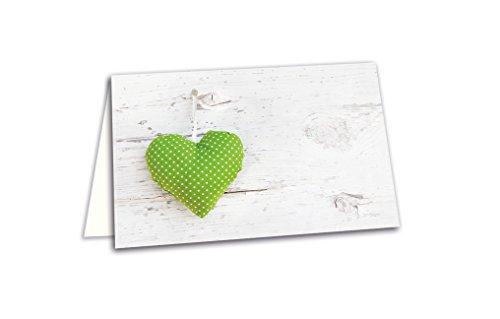 100 lichtgroen wit gestippelde harten hout-look blanco tafelkaarten naamplaatjes plaatskaarten naamkaartjes voor elke pen - voor bruiloft verjaardag communie doop jubileum
