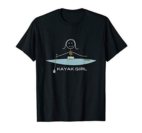 Cute Kayak Girl Design T-Shirt