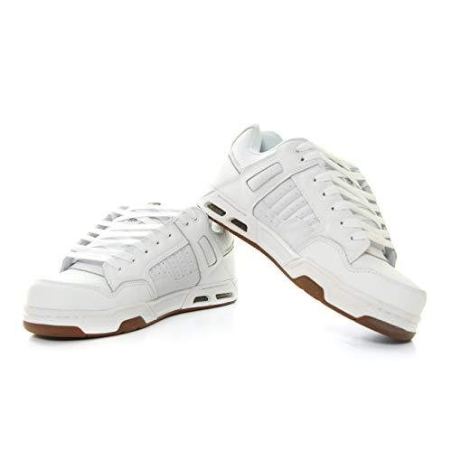 DVS Enduro Heir, Chaussures de Skateboard Mixte, Blanc (White Gum Nubuck 112), 44