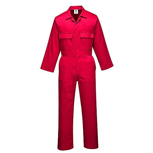 Portwest Mono Euro Work, Color: Rojo, Talla: XXL, S999RERXXL