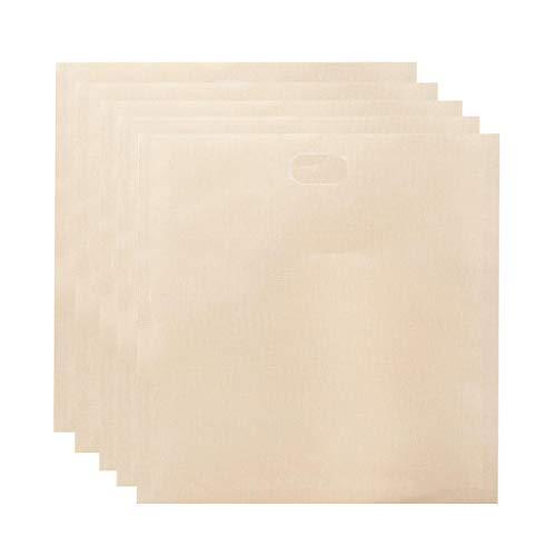 Fenteer 5Pcs Taschen Reusable für Gegrilltes Käse Sandwiches, 100% BPA & Gluten Freies, Nicht Stick Toast Tasche - 17x19cm