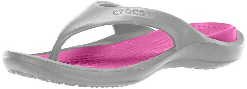 Crocs Athens, Chanclas Unisex Adulto, Gris (Light Grey/Candy Pink 0fs), 42/43 EU