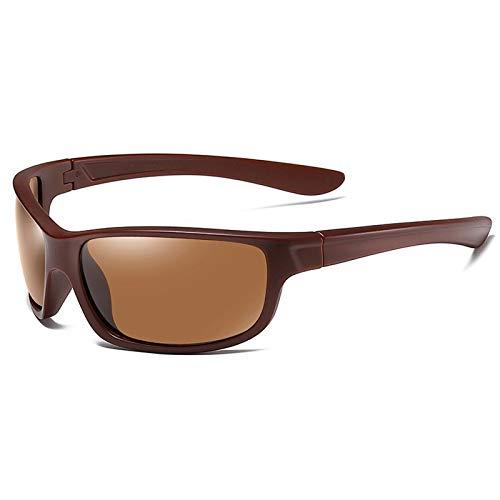 YQY Gafas de Sol Deportivas al Aire Libre polarizadas para Hombres y Mujeres para Conducir Ciclismo esquí de Golf Carrera Ciclismo Pesca Gafas Ultra luz Gafas de Sol,Marrón
