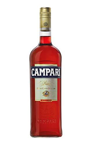 Campari Bitter Aperitif – Italienische Aperitif-Legende in 1 l Flasche – Für erfrischende, fruchtig bittere Cocktail Klassiker wie Negroni, Campari Amalfi, Campari Spritz und Campari Soda – 1,0 l