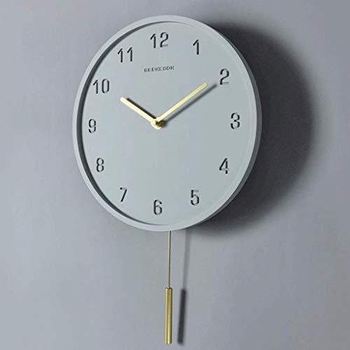 KINGXX-01 Wandklok voor Vento Industrial: nagellak en koper - moderne digitale klok minimalistisch met creatieve schommels
