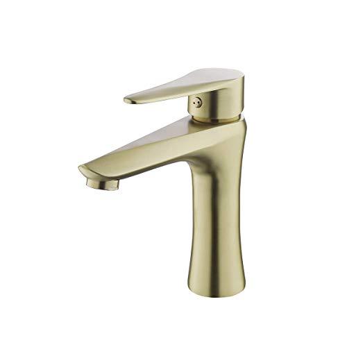 Lardecor - Grifo de Lavabo de Acero inoxidable - Monomando para Agua Fría y Caliente - DETIAN (Mod. 4028G)