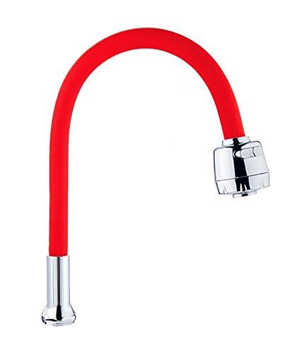 FLEXINGO - Caño flexible de silicona para grifo de cocina EHM Gastro ducha color rojo