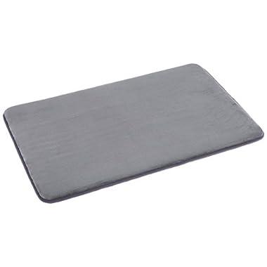 AmazonBasics Non-Slip Memory Foam Bathmat 18'' x 28'', Gray