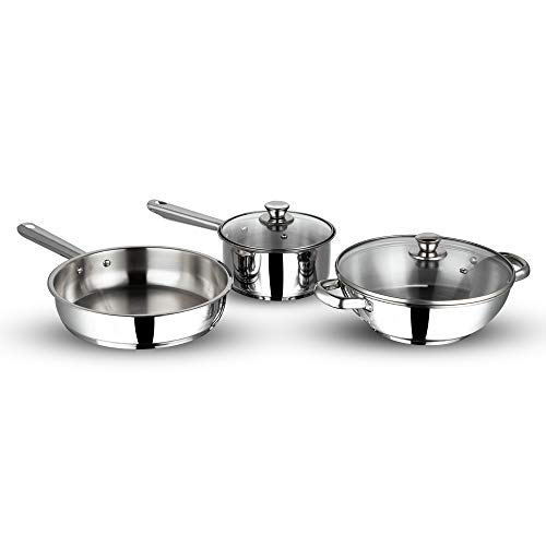 Vinod Stainless steel induction friendly Modena cookware set -3 pieces