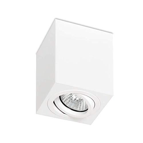 LED Aufbauleuchte Deckenlampe Aluminium CUBE GU10 Schwarz Weiß Alu IP44 Aufbauspot Downlight (CUBE Weiß)