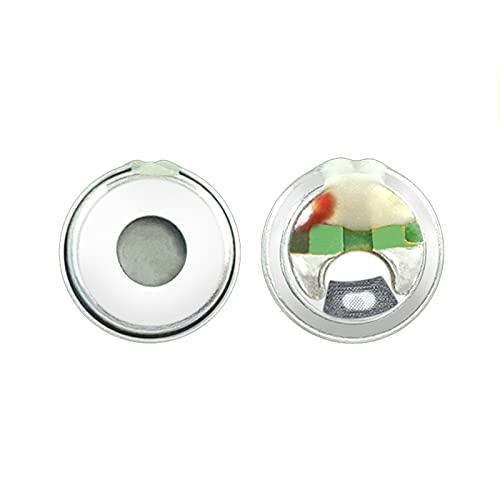 Wnuanjun 2 stücke 7mm Kopfhörer Lautsprecher 16 Ohm In-Ear TWS Lautsprecher Einheit Bass HiFi Reparatur DIY Wireless Bluetooth-Ohrhörer-Lautsprecher (Farbe : 10pcs)